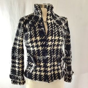 Simon Chang houndstooth jacket size 4